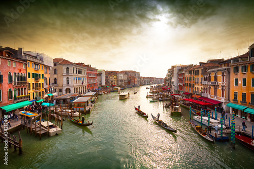 Poster Venise Grand Canal.