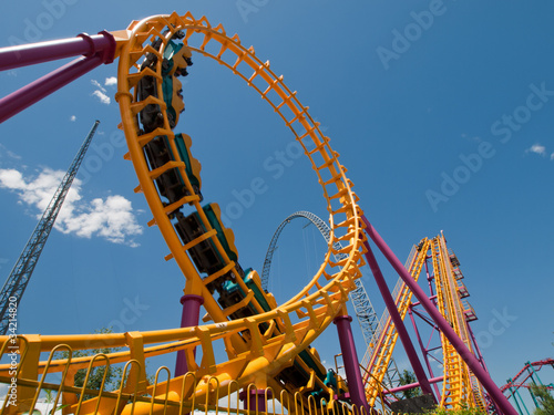 Wall Murals Amusement Park Roller Coaster