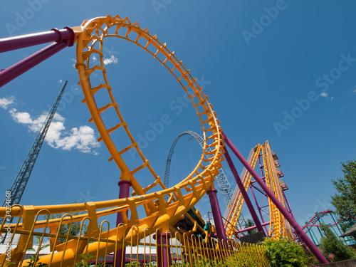 Papiers peints Attraction parc Roller Coaster