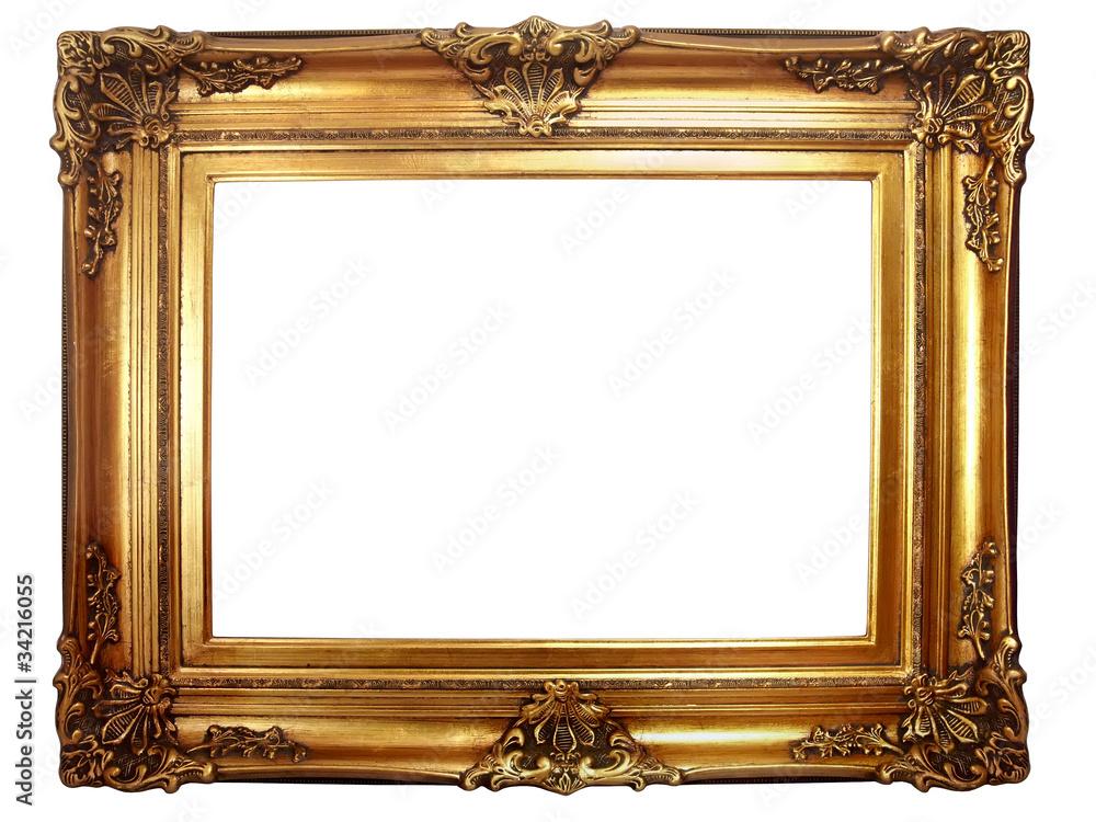 Fototapeta cadre ancien baroque doré