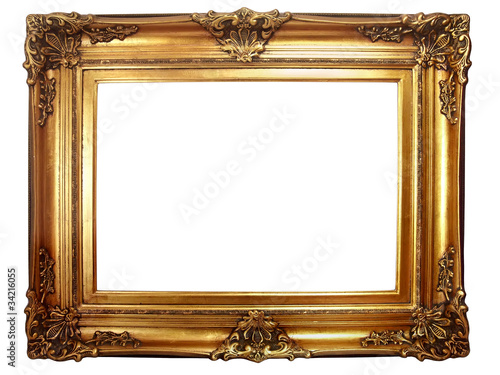 Fotomural cadre ancien baroque doré