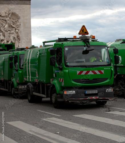 Poster Pixel Camions-poubelle