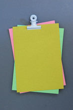 Yellow Ocher Paper And Dark Blue Background