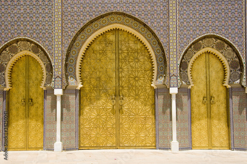 Garden Poster Morocco porta palazzo imperiale fes