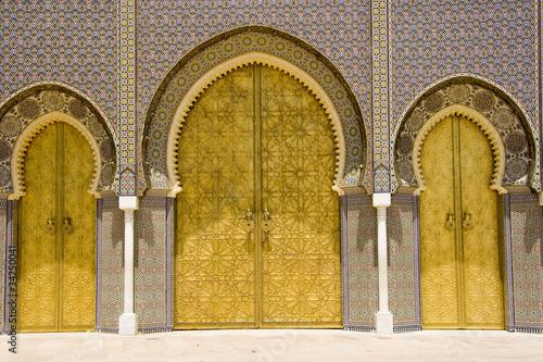 Poster Morocco porta palazzo imperiale fes