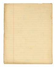 Vieille Page De Cahier D'écol...