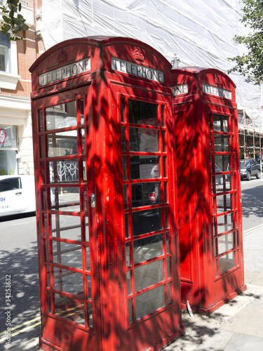 Red Telephone Boxes near St Martins in the Fields London Poster