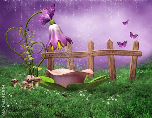 Naklejki dla dzieci basniowa-wanna-z-kwiatow