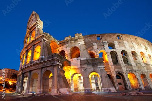 Fototapeta Colosseum Dusk, Rome Italy