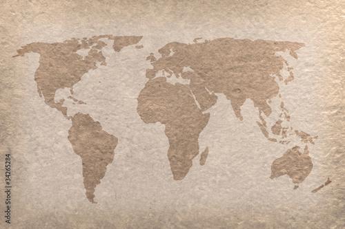 Foto op Aluminium vintage world map paper craft