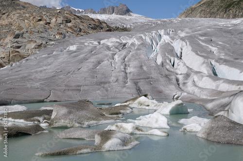Poster Glaciers Gletschersee