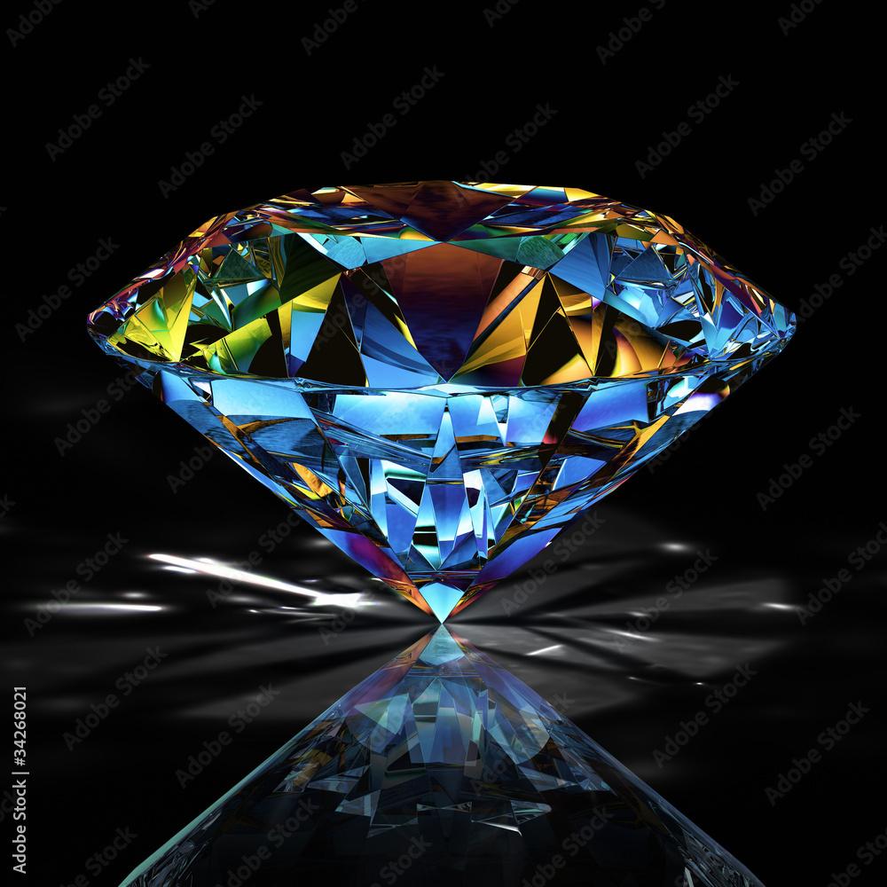 Fototapeta diamond jewelry on black background