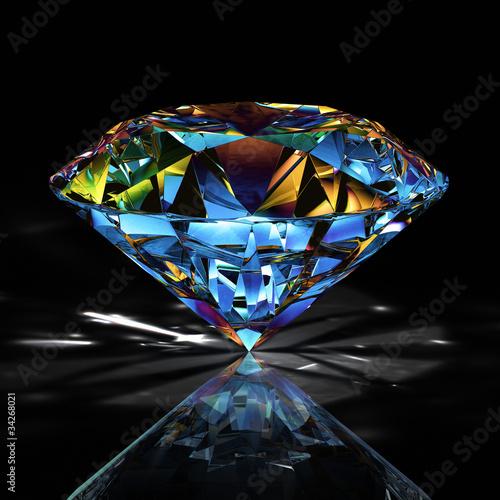 diamond jewelry on black background Wallpaper Mural