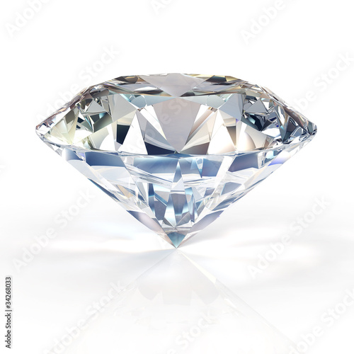 Fotografía  Picture of diamond, beautiful sparkling shining round shape emerald image with reflective surface