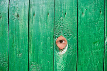 Eye In A Hole In Fence