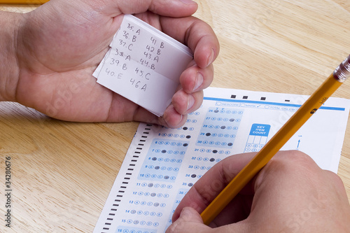 Foto Cheating on a Test