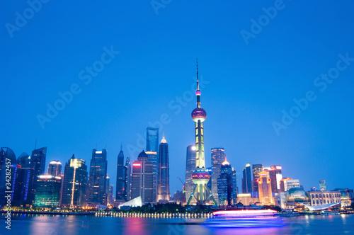 Foto op Aluminium Shanghai shanghai night