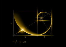 Golden Section (ratio, Divine Proportion) And Golden Spiral