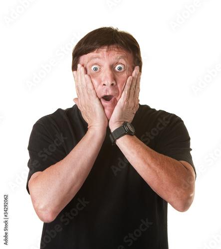 Fotografie, Obraz  Surprised Mature Man