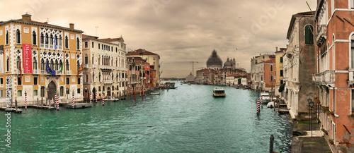 Foto op Plexiglas Venetie Panoramic view on famous Grand Canal.