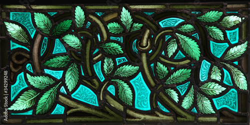 Fotografie, Obraz Stained Glass leaves