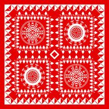 Red And White Bandana Design
