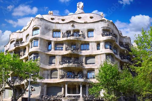 In de dag Barcelona House Casa Mila , Barcelona,Spain.