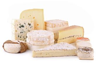 Fototapeta fromage détouré sur fond blanc