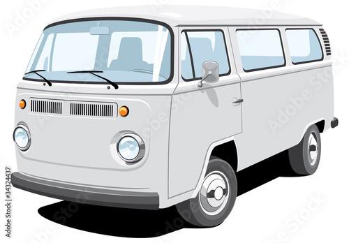 Vector isolated van passenger / cargo without gradients