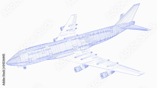 飛行機 Canvas Print