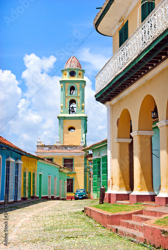 Photo  colorful street in Trinidad, Cuba