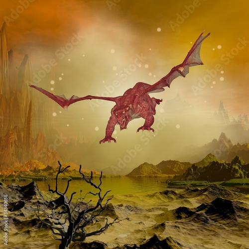 Poster Draken dragon flight