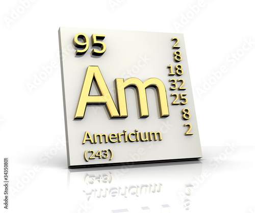Americium form Periodic Table of Elements Canvas Print