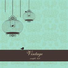Vintage Design With Birdcages