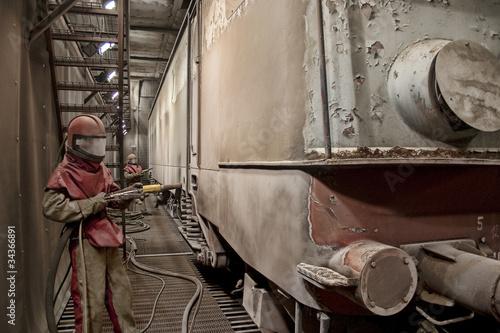 Train repairs Tapéta, Fotótapéta