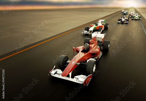 F1 Cars Wallpaper Mural