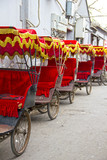 Typical Asian rickshaws