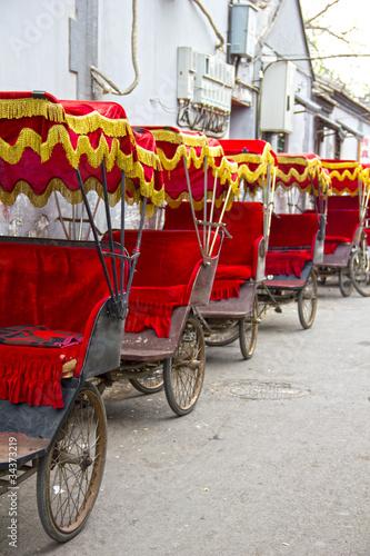 Typical Asian rickshaws