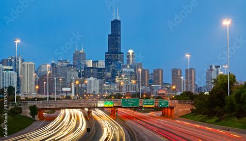 Poster Chicago Chicago traffic.