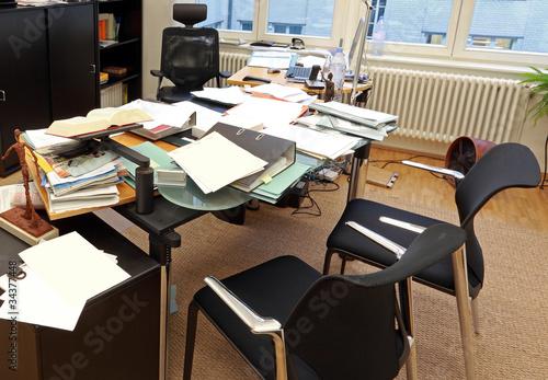 Fotografie, Obraz  Chaotischer Arbeitsplatz