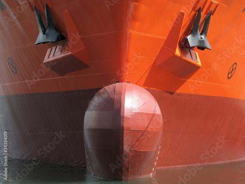 Foto  Bugwulst - Containerschiff