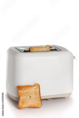 Fotografie, Obraz  Modern toaster with bread slices