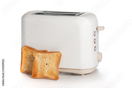 Obraz na plátně Modern toaster with bread slices