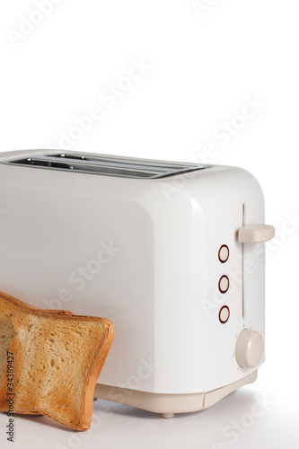 Fototapeta  Modern toaster with bread slices