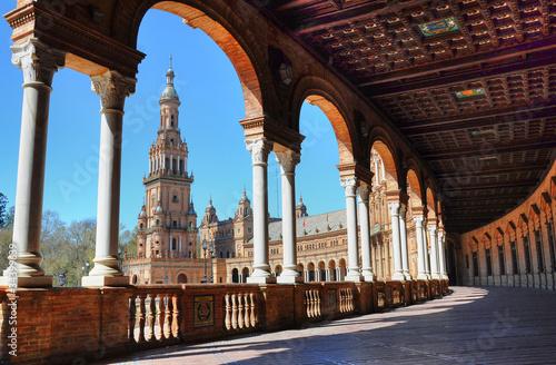 Arcos en la Plaza España en Sevilla