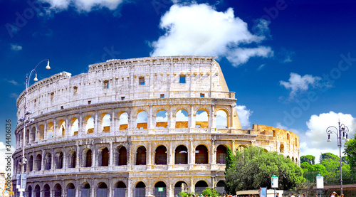 The Colosseum, the world famous landmark in Rome. Canvas Print