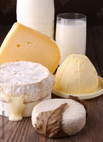Spoed Foto op Canvas Zuivelproducten produits laitiers