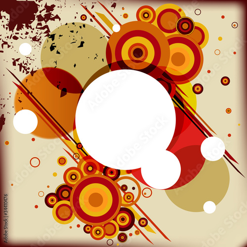 Abstract background with some circles different colors and place