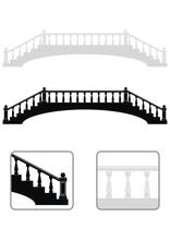 Ancient Arch Stone Bridge Silhouettes