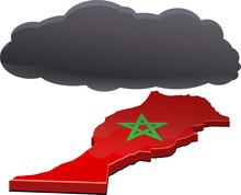 Black Cloud Over Kingdom Of Morocco